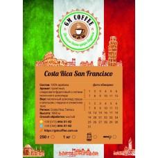 Кофе GM Coffee Коста-Рика Сан-Франциско фреш обжарка в зернах 1 кг