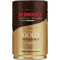 Кофе KIMBO Aroma gold 100% Arabica ж/б молотый 250 г