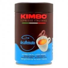 Кофе KIMBO ESPRESSO DECAFFEINATO ж/б молотый 250 г