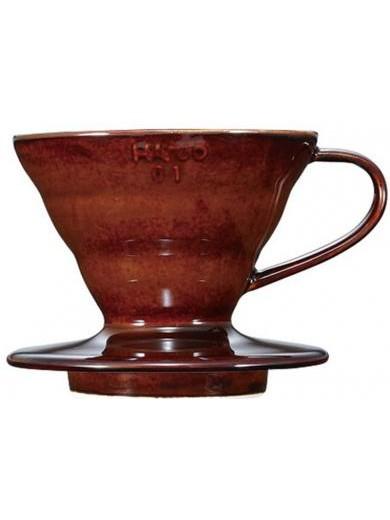 Пуровер V60 01 керамический коричневый